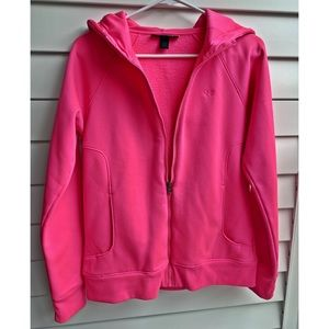 NWOT Under Armour Pink Semi Fitted Zip Up Hoodie🌼